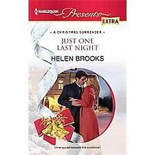 Just One Last Night (Harlequin Presents Extra), Brooks, Helen, Good Book