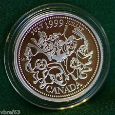 1999 CANADA Millennium Sterling Silver Quarter for July in proof finish