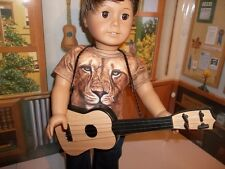 """Light  Brown Western Guitar made for18"""" American Girl or Boy Doll Clothes New"""