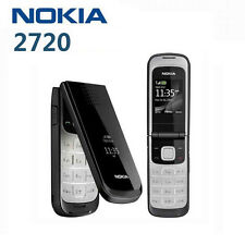 Origina Nokia 2720 Clamshell Unlocked Cell Phone Bluetooth in Black Colour