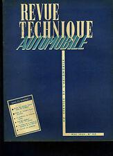 (C11)REVUE TECHNIQUE AUTOMOBILE SIMCA MONTE CARLO VENDOME / 4CV RENAULT