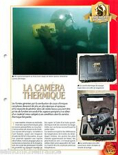 CARD FICHE Thermographic Camera Thermique Argus des Sapeurs Pompiers FIREFIGHTER