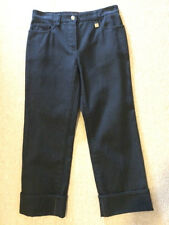Louis Vuitton Cropped Jeans New Womens 36 Black Authentic