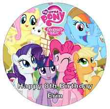 "My Little Pony Personalised Cake Topper 7.5"" Edible Wafer Paper Birthday Partys"