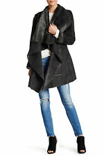 NWT $313 BIYA JOHNNY WAS KARENINA Embroidered Faux Shearling Fur Jacket Coat XL