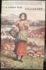 Irish Postcard A COLLEEN FROM KILLARNEY Sydney Hayes Foldout Novelty 12 Views