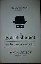The Establishment: And How They Get Away with it by Owen Jones (Hardback, 2014)