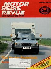 Motor Reise Revue 9 1982 BMW 5er 6er Fiat Panda Porsche 911 SC Cabrio Golf GTi