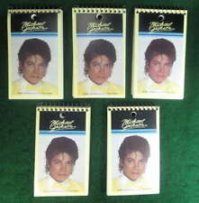 MICHAEL JACKSON PHOTO VINTAGE 1984 SMALL SPIRAL MEMO PADS NOTEBOOKS LOT OF 5