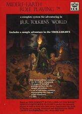 MIDDLE-EARTH ROLE PLAYING GAME SET w/DICE VF! MERP J.R.R. Tolkien Box Module ICE