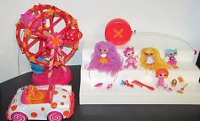 Mini Lalaloopsy Remote Control Car Polka Dot Cruiser Ferris wheel Mini dolls lot