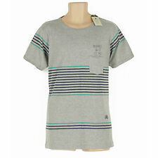 BNWT JACK & JONES GREY MULTI COLOUR STRIPEY SLIM FIT SHORT SLEEVE TOP SIZE XL
