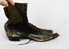 Antique Victorian Boots Distressed Creepy Display Halloween C  1880 1870