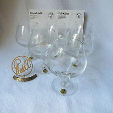 Peill POLO Napoleon 6 Cognac-Gläser Cognacschwenker Kristall gemarkt Top! OVP