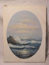 vintage sea nautical ocean scene COLLECTORS CORNER painting  signed canvas art
