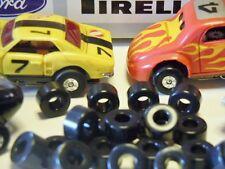 Tom's Aurora Tuff Ones Slot Car Soft Black Silicone Racing Tires 10 Pair