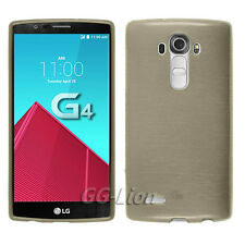 For LG G4,H811,LS991,VS986,F500S,F500K,H818,H815 Brushed-Gold Gel TPU Cover Case
