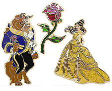 Disney Art of Belle Beauty and the Beast Limited Edition LE Pins Boxed Set