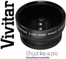 Wide Angle Vivitar HD4 Optics With Macro Lens For Canon Powershot SX30 IS