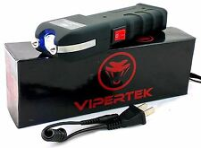200 Million Volts Rechargeable Stun Gun w/ LED Flaslight + Free taser Holster