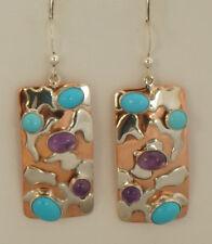 JAY KING Sleeping Beauty Turquoise & Amethyst Earrings, Sterling Silver & Copper