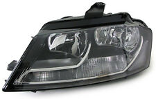 Black clear finish Left side H7 headlight front lights for Audi A3 8P from 09