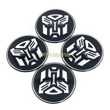 4x 65mm Transformers Autobot Car Auto Wheel Rim Center Hub Caps Decal Tyre Badge