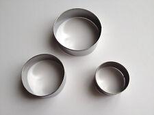 3 pcs Stainless Steel Star Circle Cutter Dough Cake Cupcake Baking Tools Round