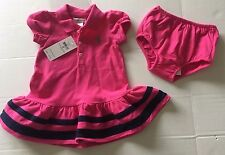 *RALPH LAUREN* *NWT* Baby Girl 9 mos Pink Polo Dress $35