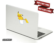 Macbook Air Pro Vinyl Skin Sticker Decal Pokemon Go Game Pikachu Cute CMAC036