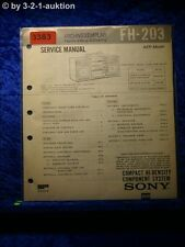 Sony Service Manual FH 203 Compact Component System (#3383)