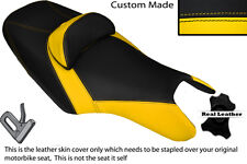 BLACK & YELLOW CUSTOM FITS YAMAHA T MAX 500 10-14 DUAL LEATHER SEAT COVER