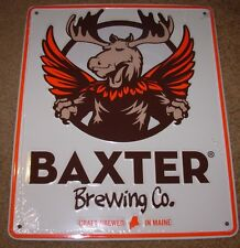 BAXTER BREWING CO Stowaway Moose METAL TACKER SIGN craft beer brewery