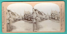 Netherlands AMSTERDAM CANAL VINTAGE STEREO PHOTO 760
