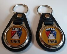 1966 FORD KEYCHAIN 2 PACK FOR GALAXY F100 THUNDERBIRD FAIRLANE  FALCON yellow