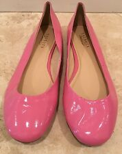 TALBOTS Pink Patent Leather Slip-On Ballet Flats Shoes Woman's Sz 11M NEW!!!