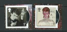GREAT BRITAIN 2017 DAVID BOWIE SELF ADHESIVE BOOKLET PAIR  FINE USED