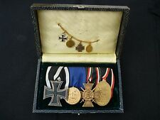 ORIGINAL GERMAN WW1 IRON CROSS, FLANDERS CROSS, 12 YEAR'S LONG SERVICE GROUP