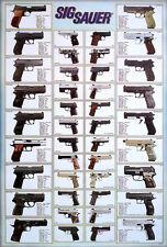 """SIG SAUER REVOLVERS POSTER 23""""x34"""" PISTOLS, GUNS, GERMAN FIREARMS, HANDGUNS v2"""