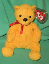 Poopsie TY Beanie Baby Yellow Pot-Belly Teddy Bear Birthday March 31  2001 MWMT