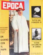 Epoca 441 1959 Speciale Un giorno col Papa. Alla conquista dello spazio.