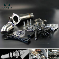 """2.25"""" Exhaust Catback Downpipe Cutout E-Cut Out Valve System+Remote Electric kit"""