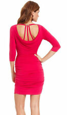 Guess Pink Three-Quarter-Sleeve Ruched Cowl-Neck Cocktail Dress.NWT Sz.2