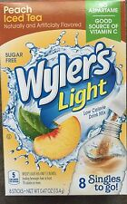 PEACH ICED TEA - WYLER'S LIGHT SINGLES TO GO DRINK MIX 8 PACKS ON THE GO