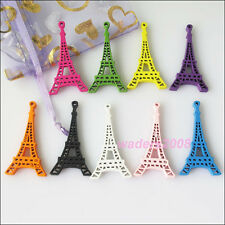15 New Mixed Eiffel Tower Charms Wood Pendants for DIY Crafts 24x44.5mm