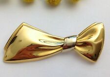 """SPILLA """" GALA """" IN ORO GIALLO 18KT - 18KT SOLID YELLOW GOLD RIBBON BROOCH"""