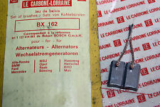 CHARBONS BX 162 POUR ALTERNATEURS 12V BOSCH...ALFA BMW MERCEDES OPEL FORD NSU