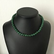 Collier Vintage En Pierres Dures Malachite French Vintage Necklace