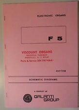 Original Galanti F2 Rhythm Electronic Organ Schematic Diagrams