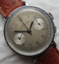 Leonidas chronograph mens wristwatch cal. Valjoux 22 load manual refinished dial